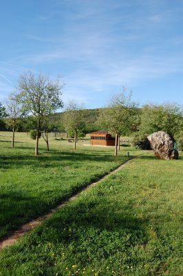 Jardin avec Jacuzzi Domaine du Planet